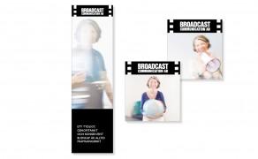 Folder och visitkort för Broadcast Communication