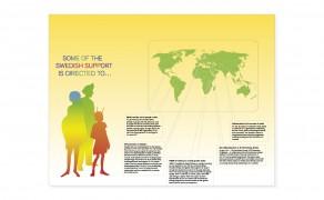 Gemensam monter för Sida, UD och Socialstyrelsen på aidskonferens i Mexiko