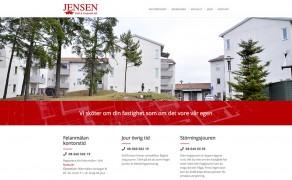 Webbplats för Jensen Drift och Underhåll